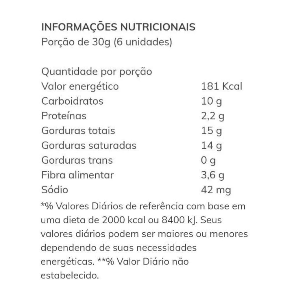 Biscoito de Coco com Gotas de Chocolate Low Carb Delícias do Jacu-Açu 100g  - TLC Tudo Low Carb