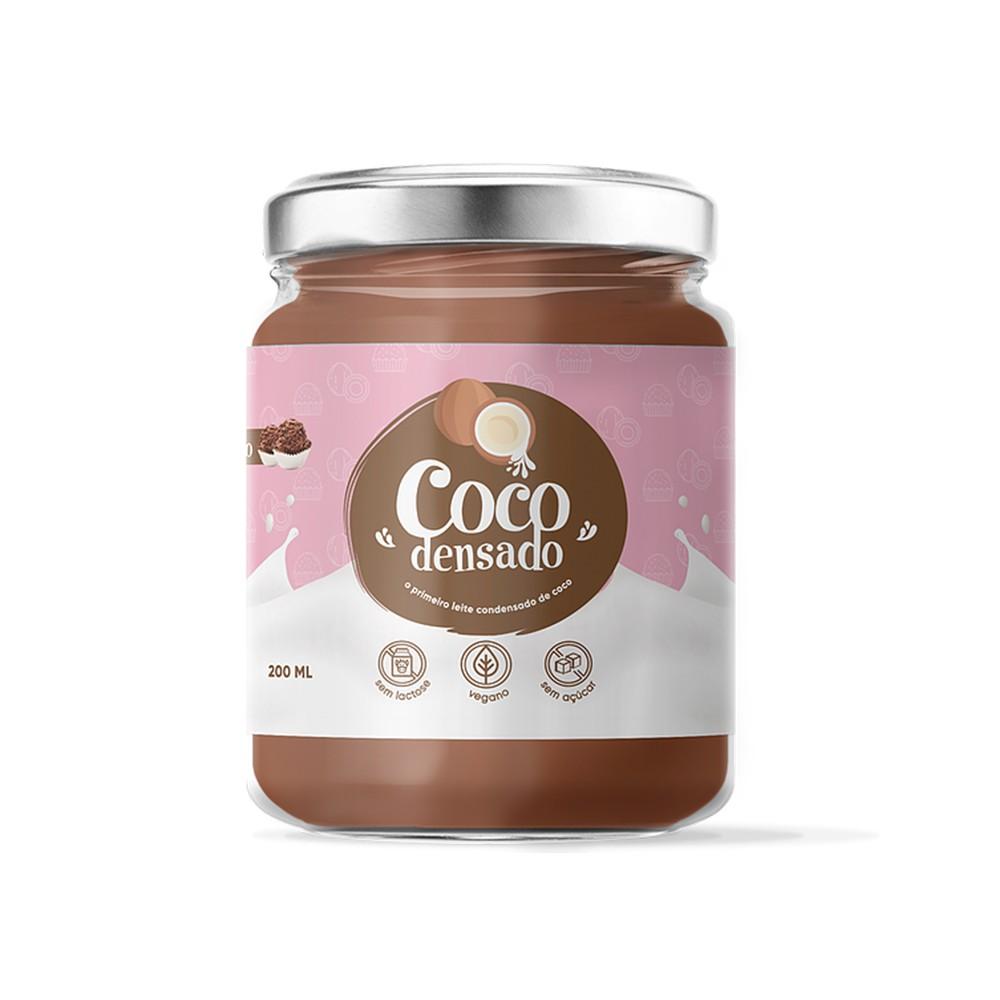 Brigadeiro de Coco Sem Açúcar Cocodensado 200ml  - Tudo Low Carb