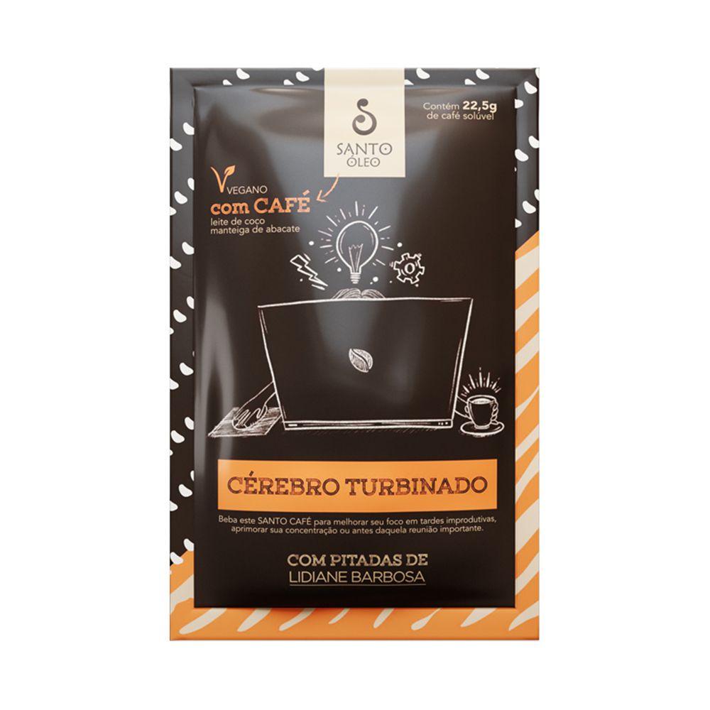 Café Solúvel Cérebro Turbinado Santo Óleo Sachê 22,5g  - Tudo Low Carb