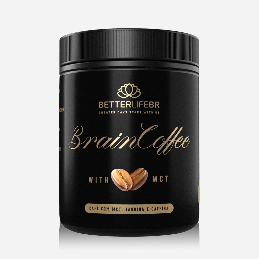 Café Termogênico Brain Coffee com MCT BetterLife 200g  - Tudo Low Carb
