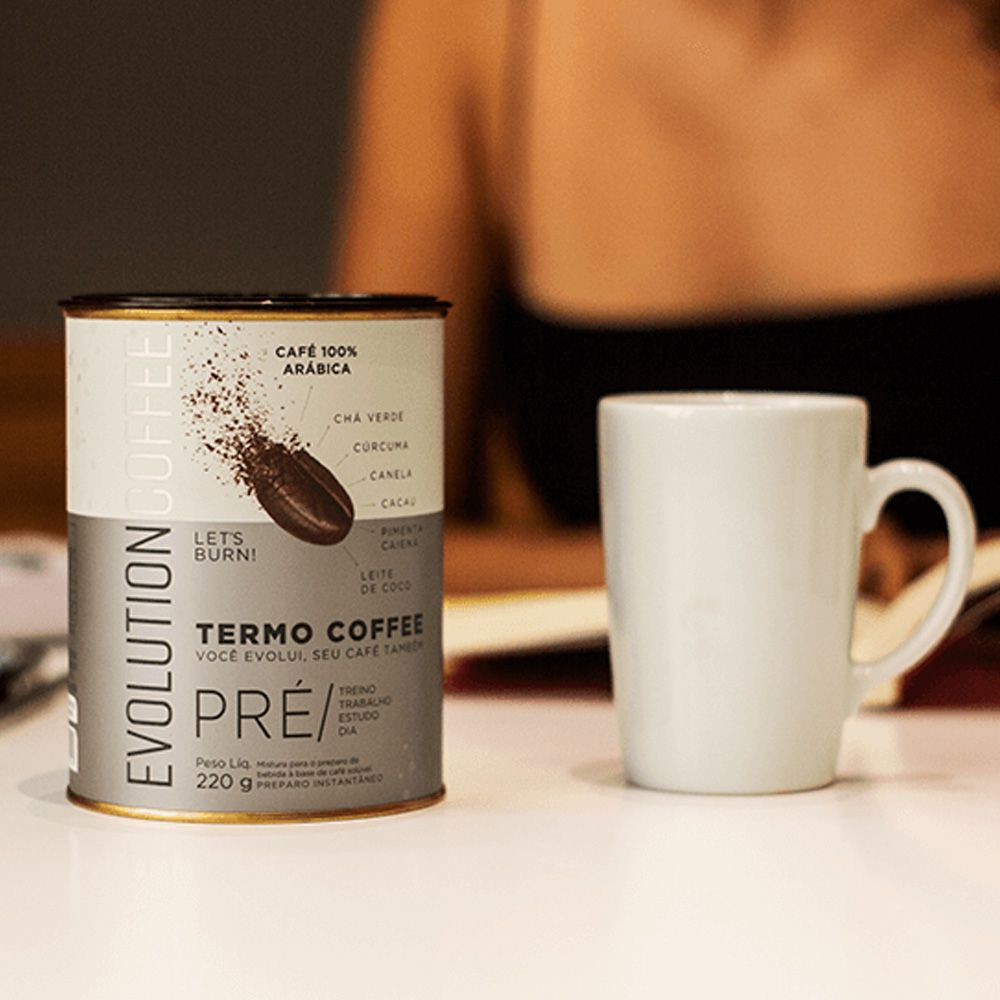 Café Termogênico Evolution Coffee 220g  - Tudo Low Carb