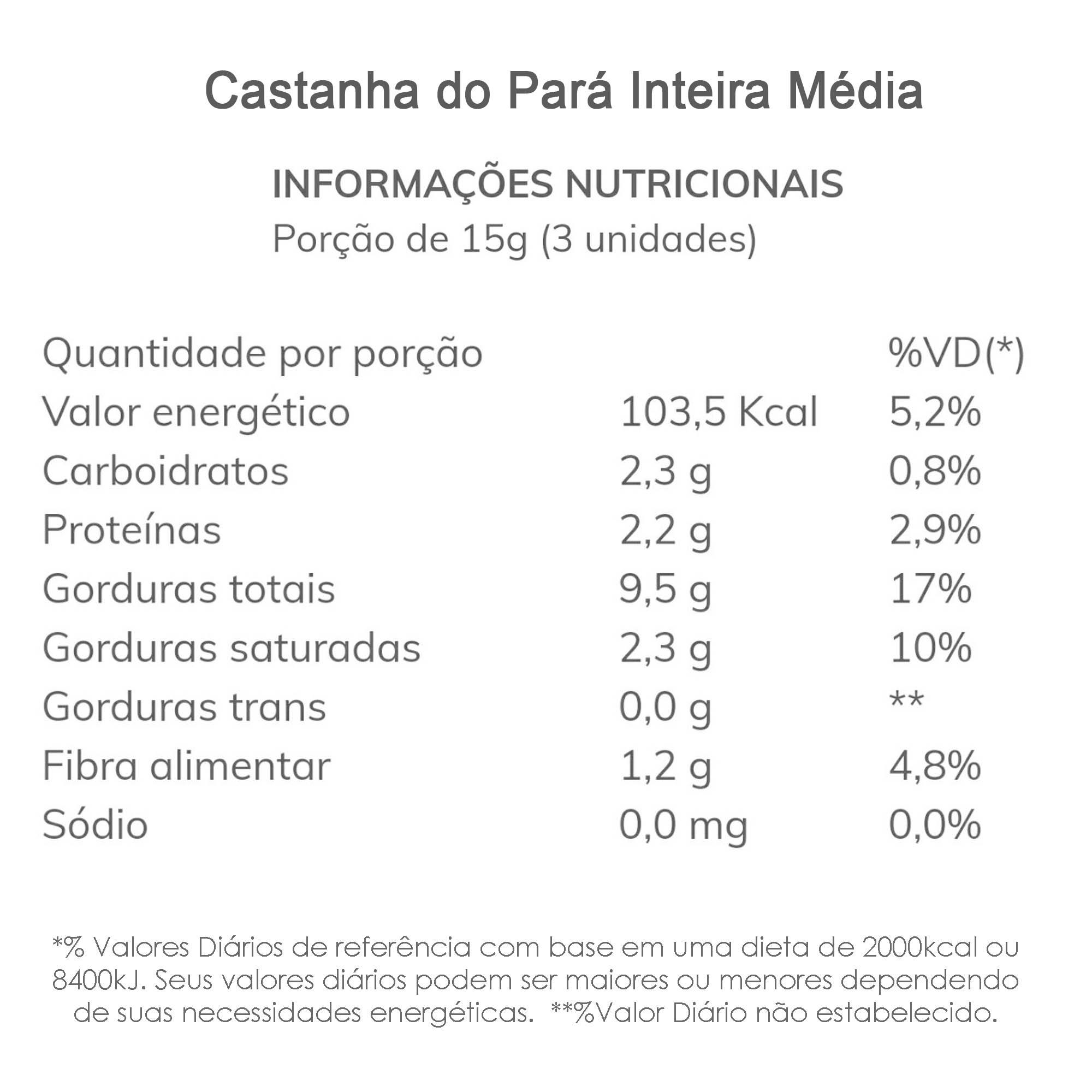 Castanha do Pará Inteira Média  - TLC Tudo Low Carb
