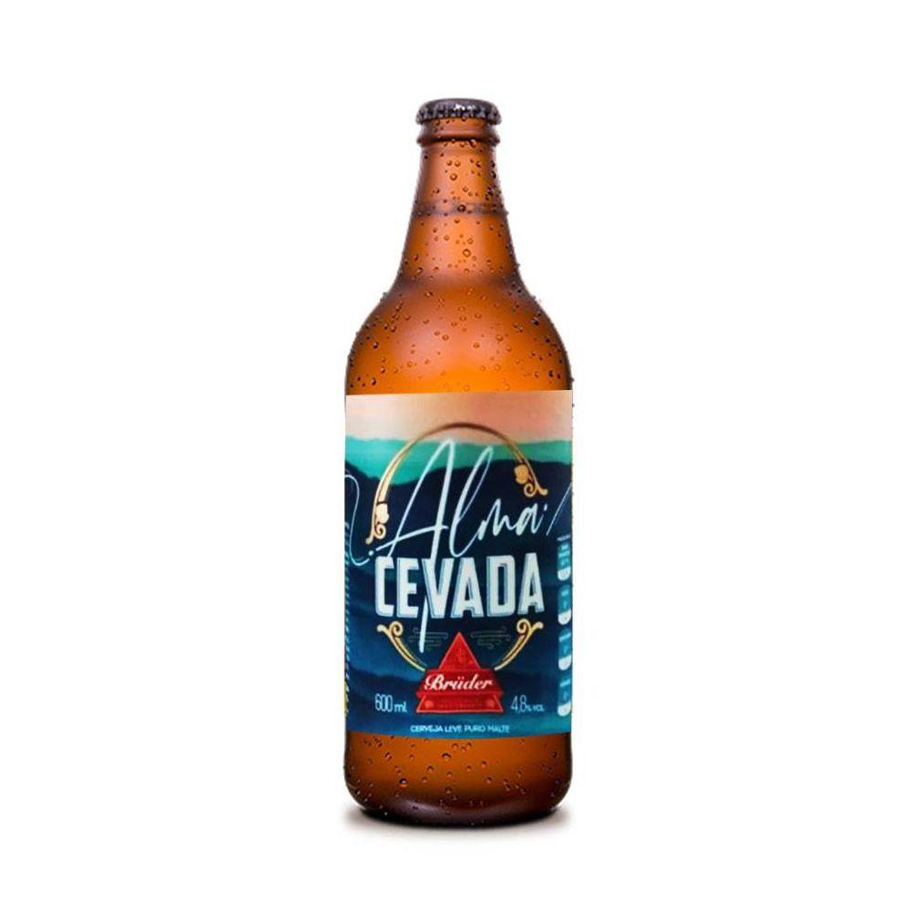 Cerveja Zero Carboidrato Alma Cevada Bruder 600ml  - Tudo Low Carb