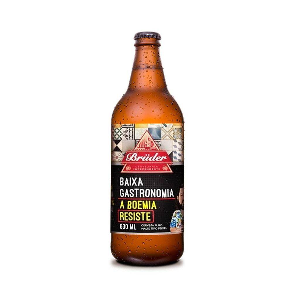 Cerveja Zero Carboidrato Baixa Gastronomia Bruder 600ml  - Tudo Low Carb