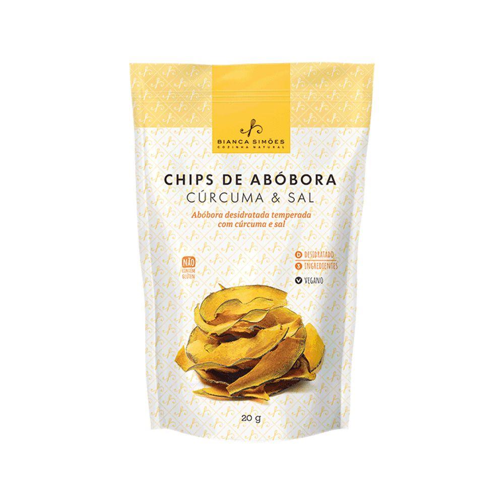 Chips de Abóbora Cúrcuma e Sal Bianca Simões 20g  - Tudo Low Carb