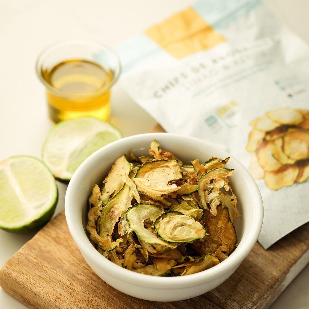 Chips de Abobrinha Limão e Azeite Bianca Simões 20g  - Tudo Low Carb