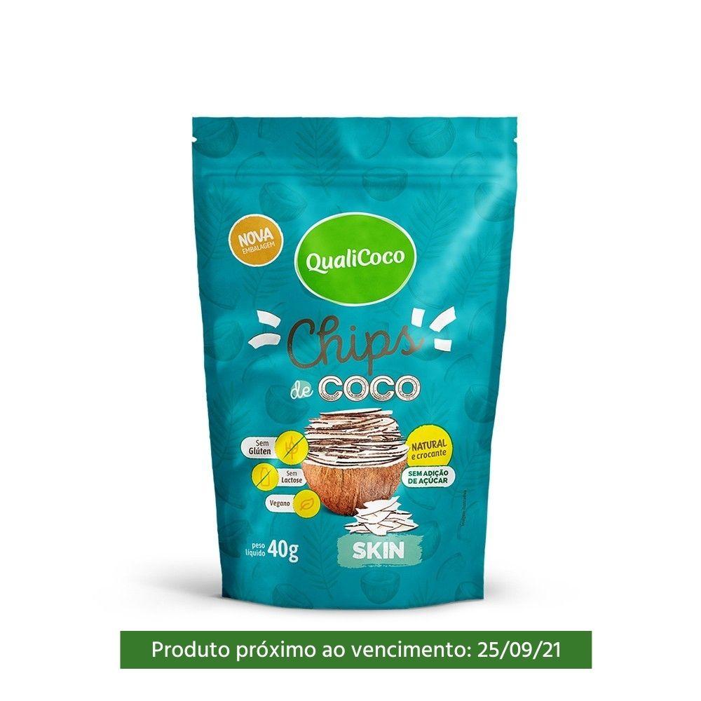 Chips de Coco Skin Qualicoco 40g  - TLC Tudo Low Carb