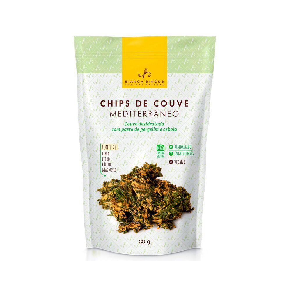 Chips de Couve Mediterrâneo Bianca Simões 20g  - Tudo Low Carb