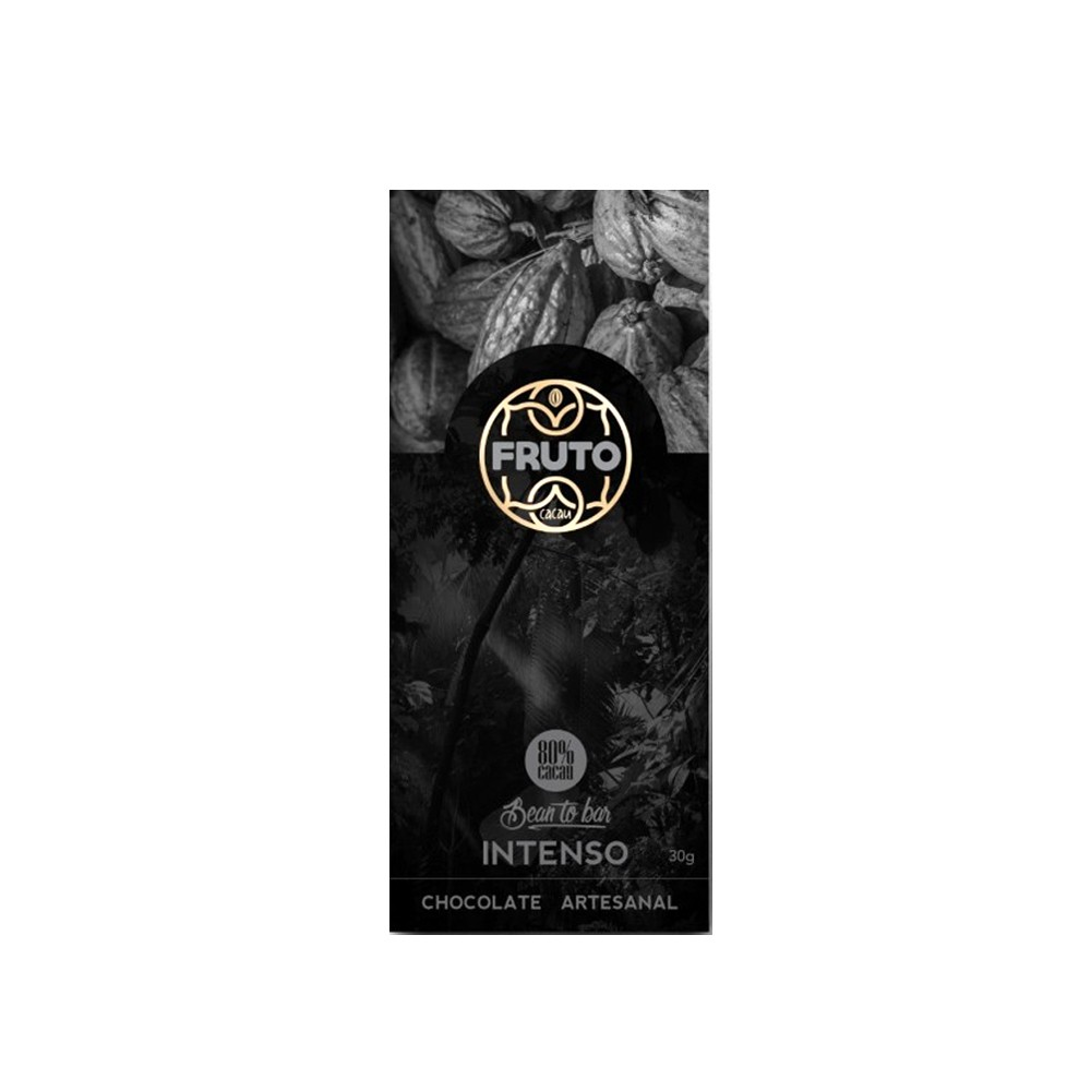 Chocolate 80% Intenso Fruto Cacau 30g  - Tudo Low Carb