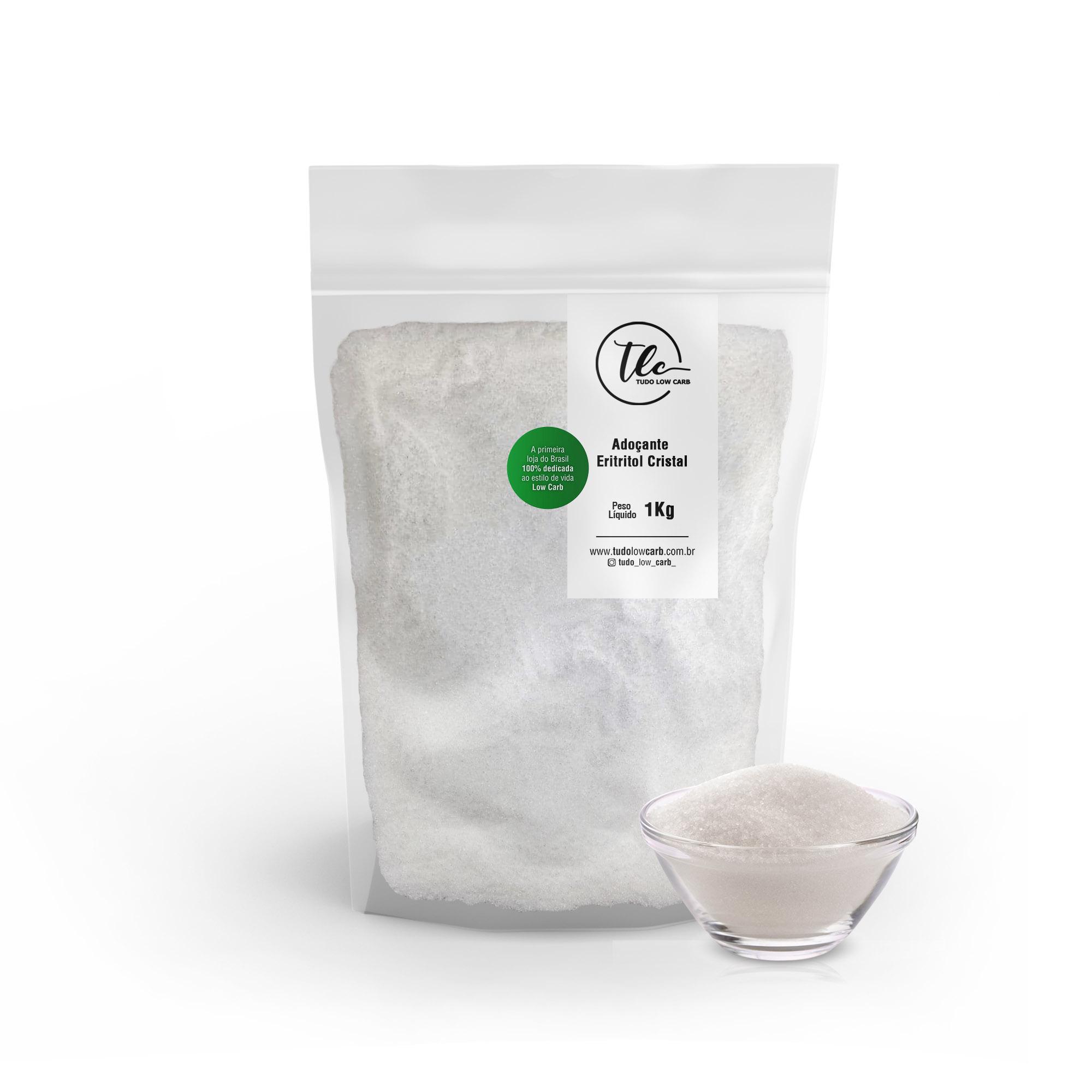 Combo Adoçante Eritritol Cristal 3 Kg  - TLC Tudo Low Carb