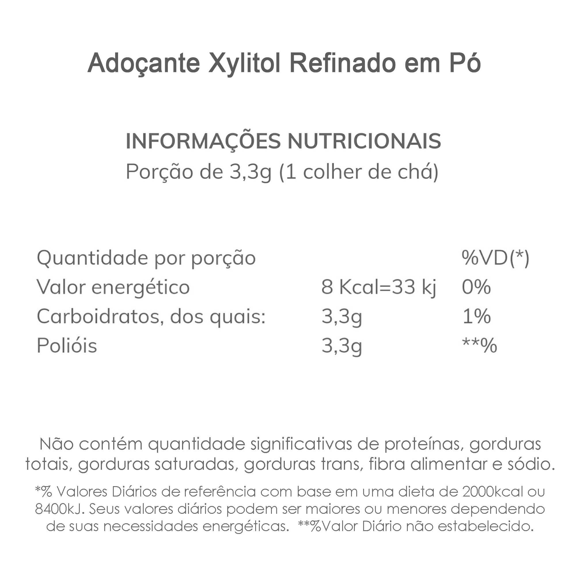 Combo Adoçante Xylitol Refinado 3 Kg  - TLC Tudo Low Carb