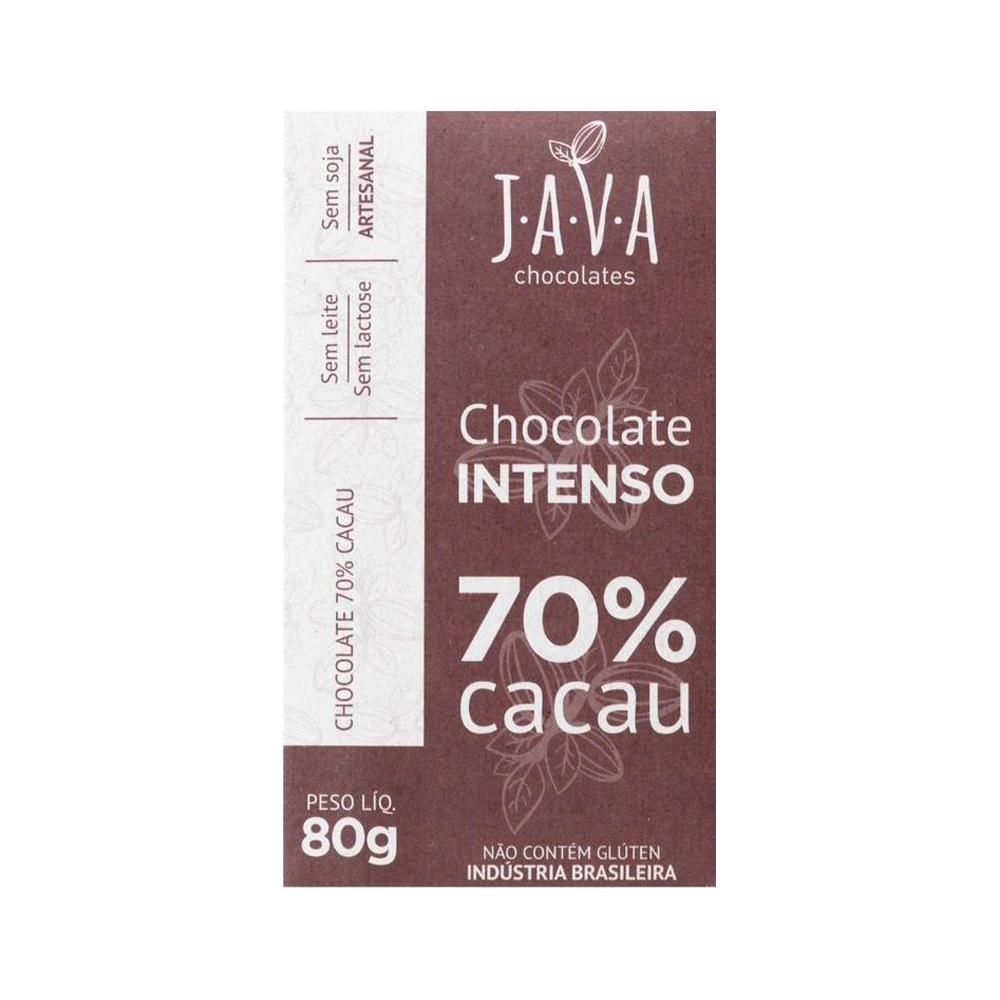 Combo Chocolate 70% Cacau Intenso Java (3 unidades 80g cada)  - Tudo Low Carb