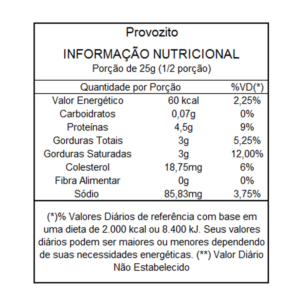 Combo Queijo Provolone Desidratado sabor Cebola e Salsa Provozito 50g (10 unidades)  - TLC Tudo Low Carb