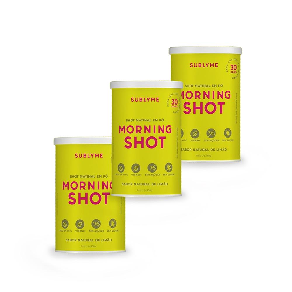 Combo Shot Matinal em Pó Morning Shot 150g (3 unidades)  - TLC Tudo Low Carb