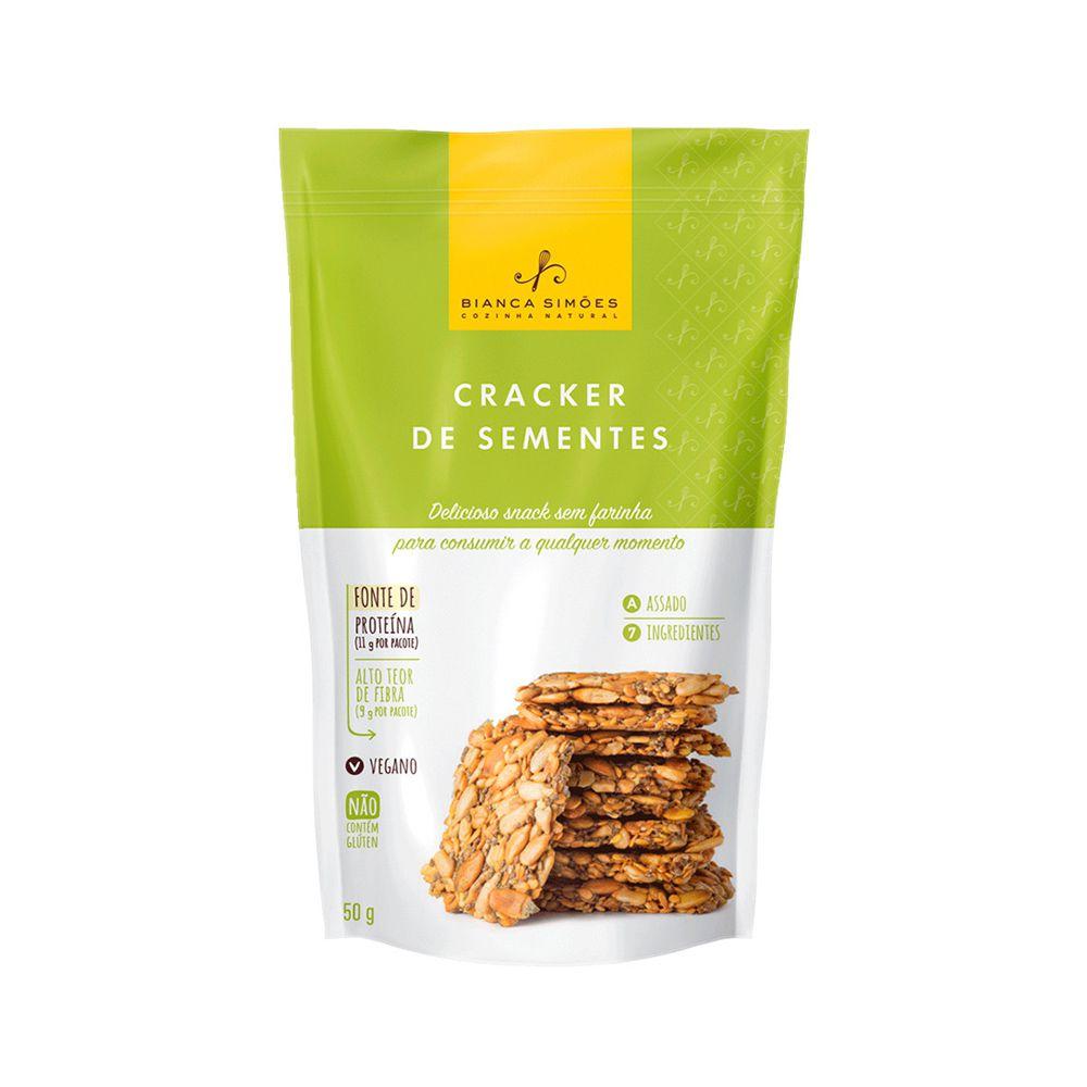 Cracker de Sementes Bianca Simões 50g  - TLC Tudo Low Carb