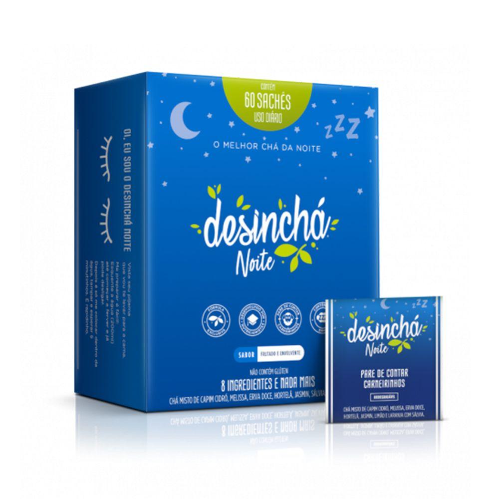 Desinchá Noite - Chá 60 sachês  - Tudo Low Carb