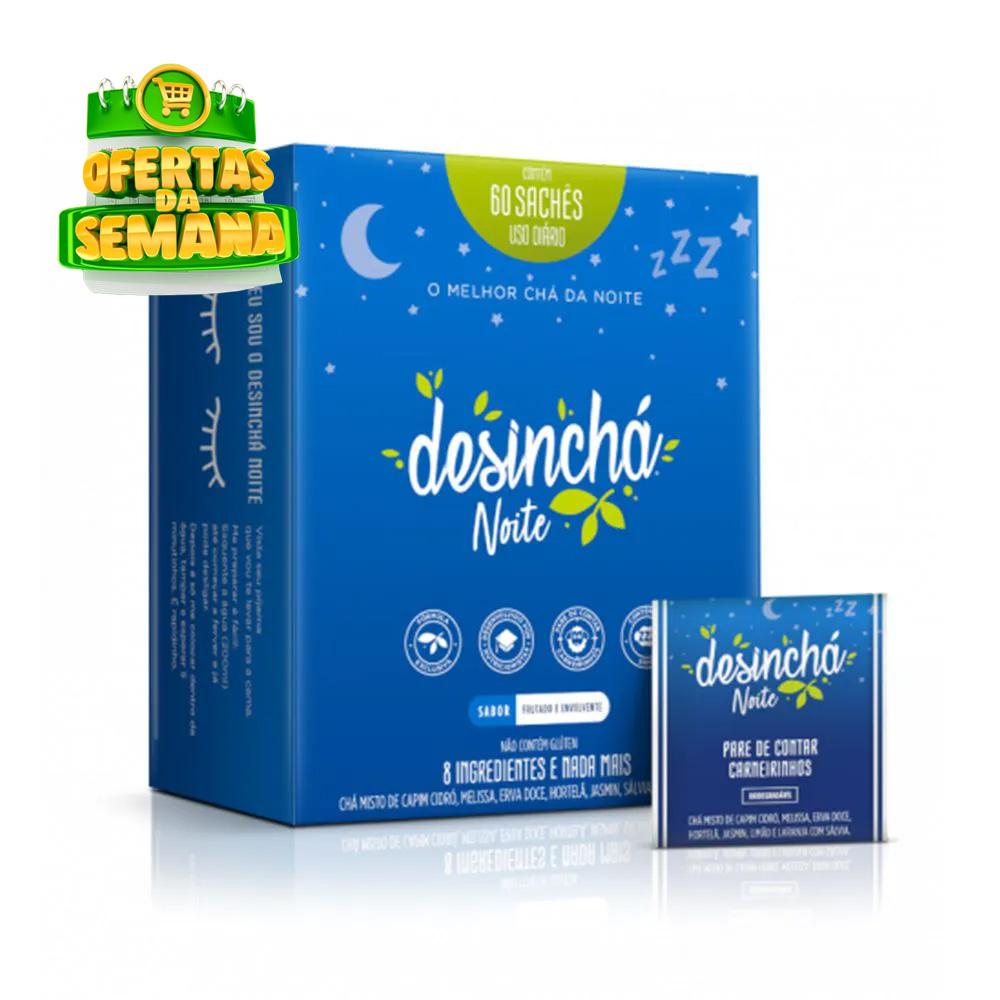 Desinchá Noite - Chá 60 sachês  - TLC Tudo Low Carb