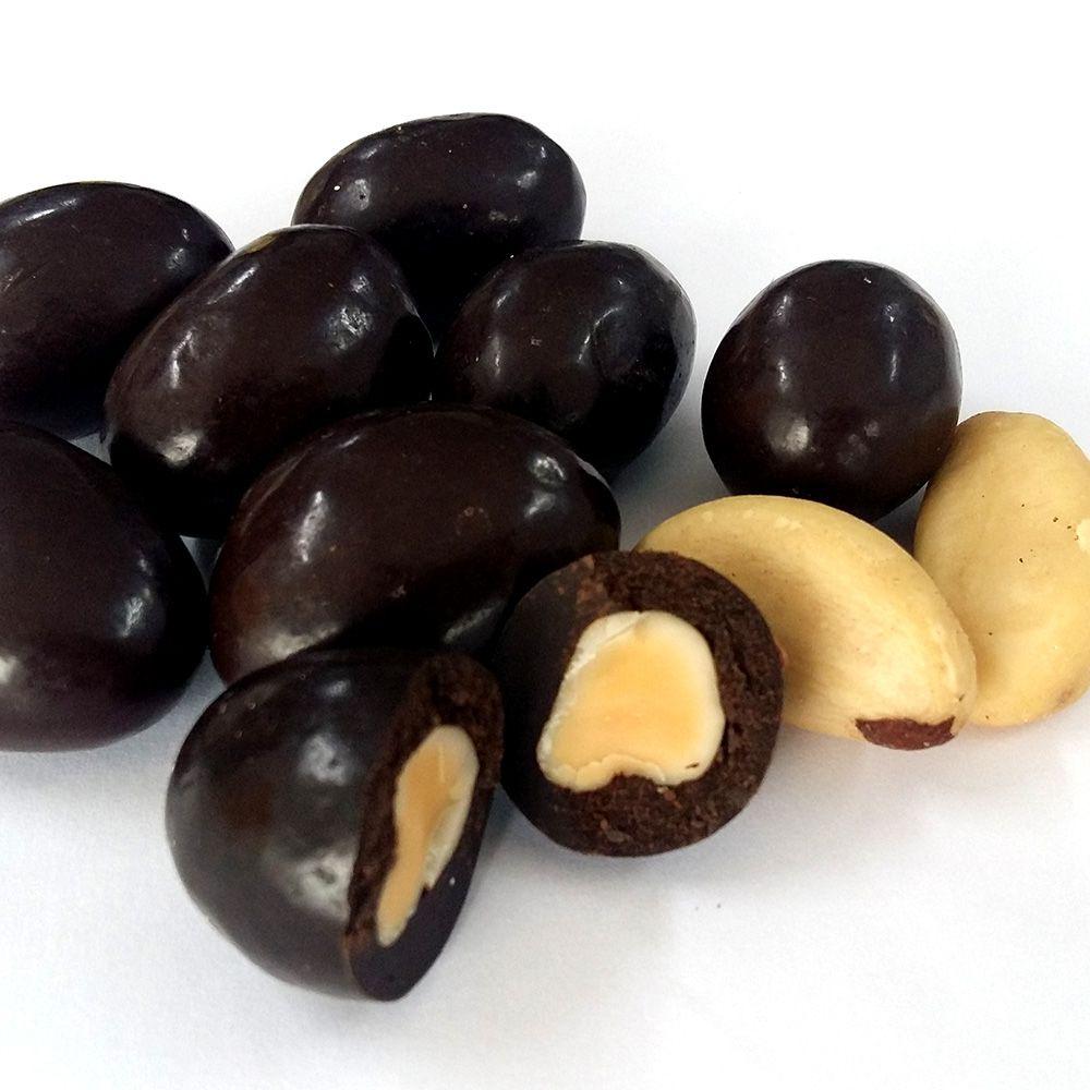 Drageado Castanha do Pará com Chocolate 70% Cacau 100g  - Tudo Low Carb