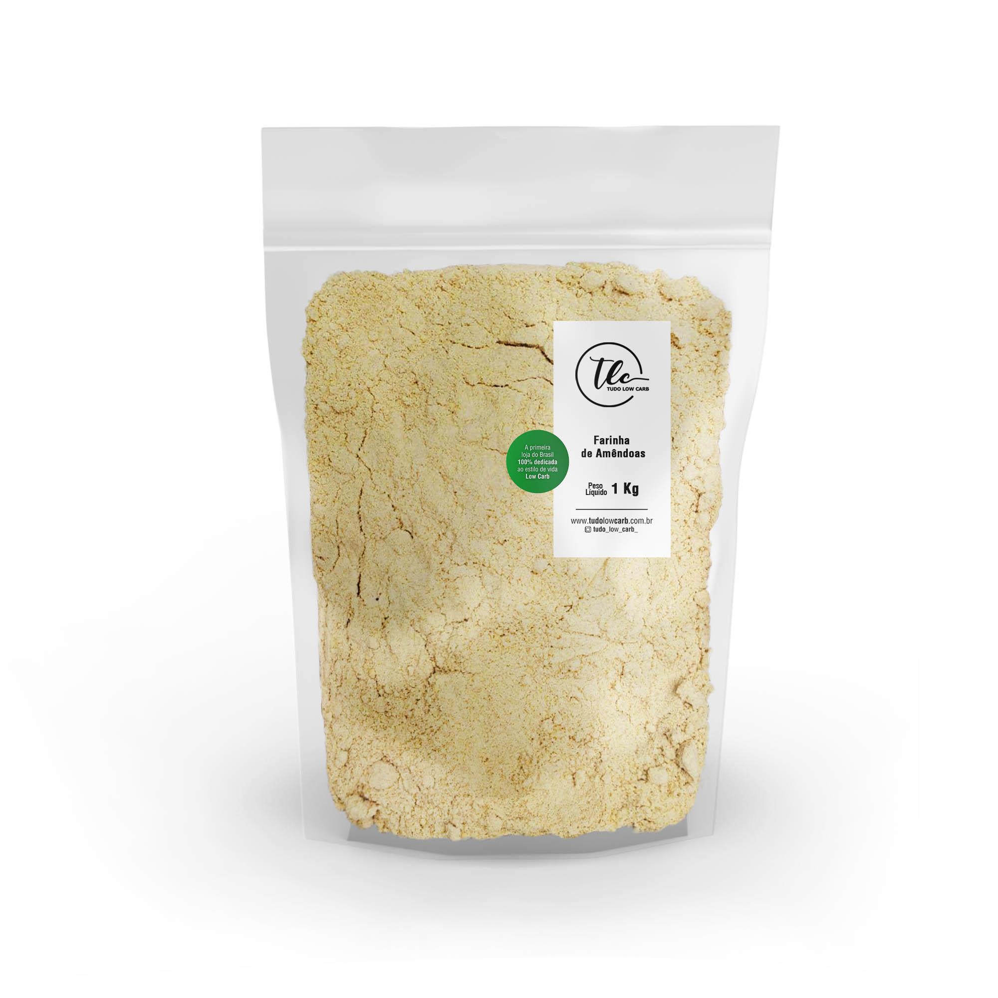Farinha de Amêndoas 1 kg  - TLC Tudo Low Carb