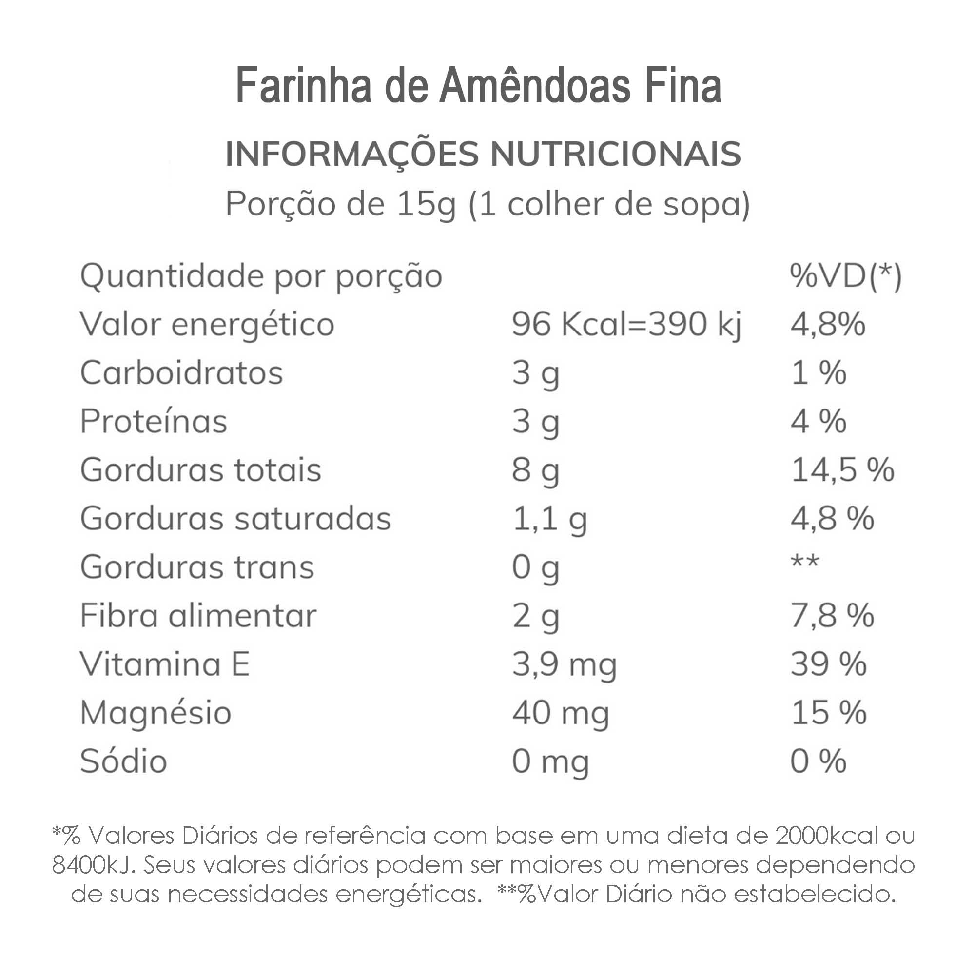Farinha de Amêndoas Fina 1 kg  - TLC Tudo Low Carb
