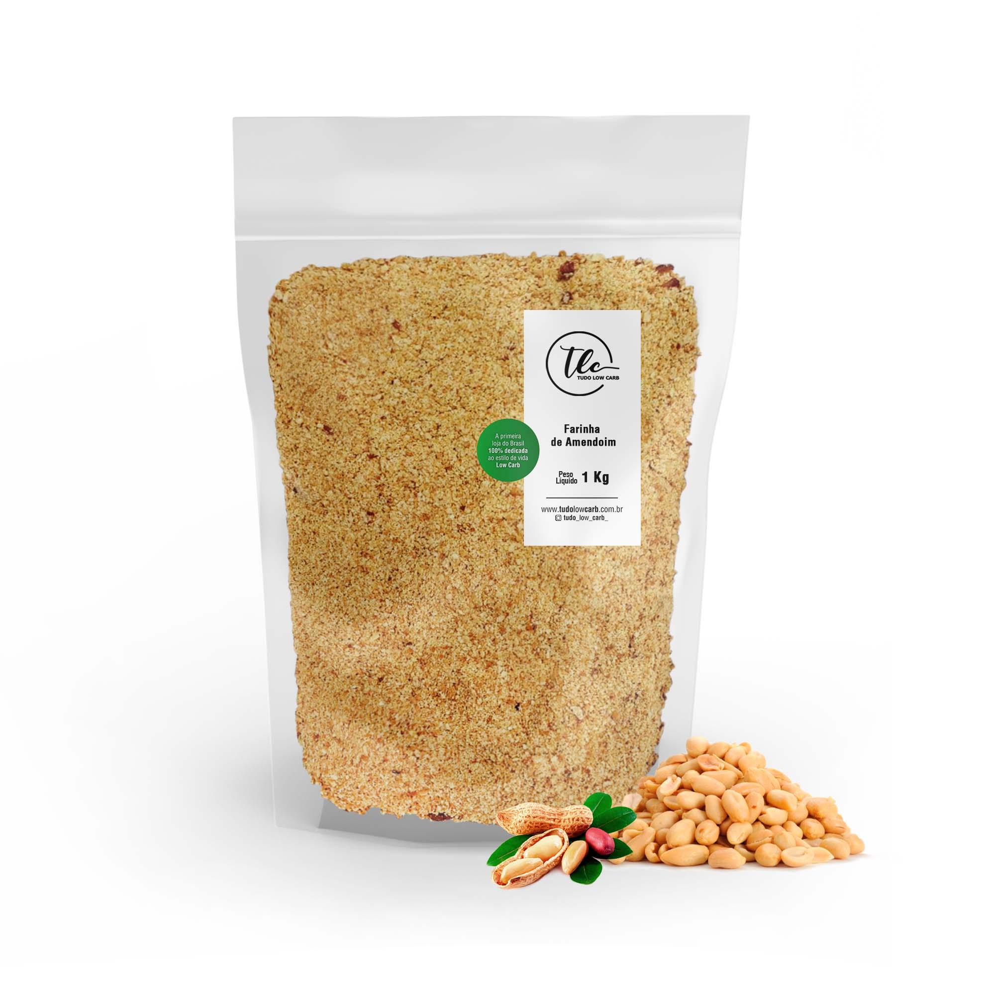 Farinha de Amendoim 1 kg  - TLC Tudo Low Carb