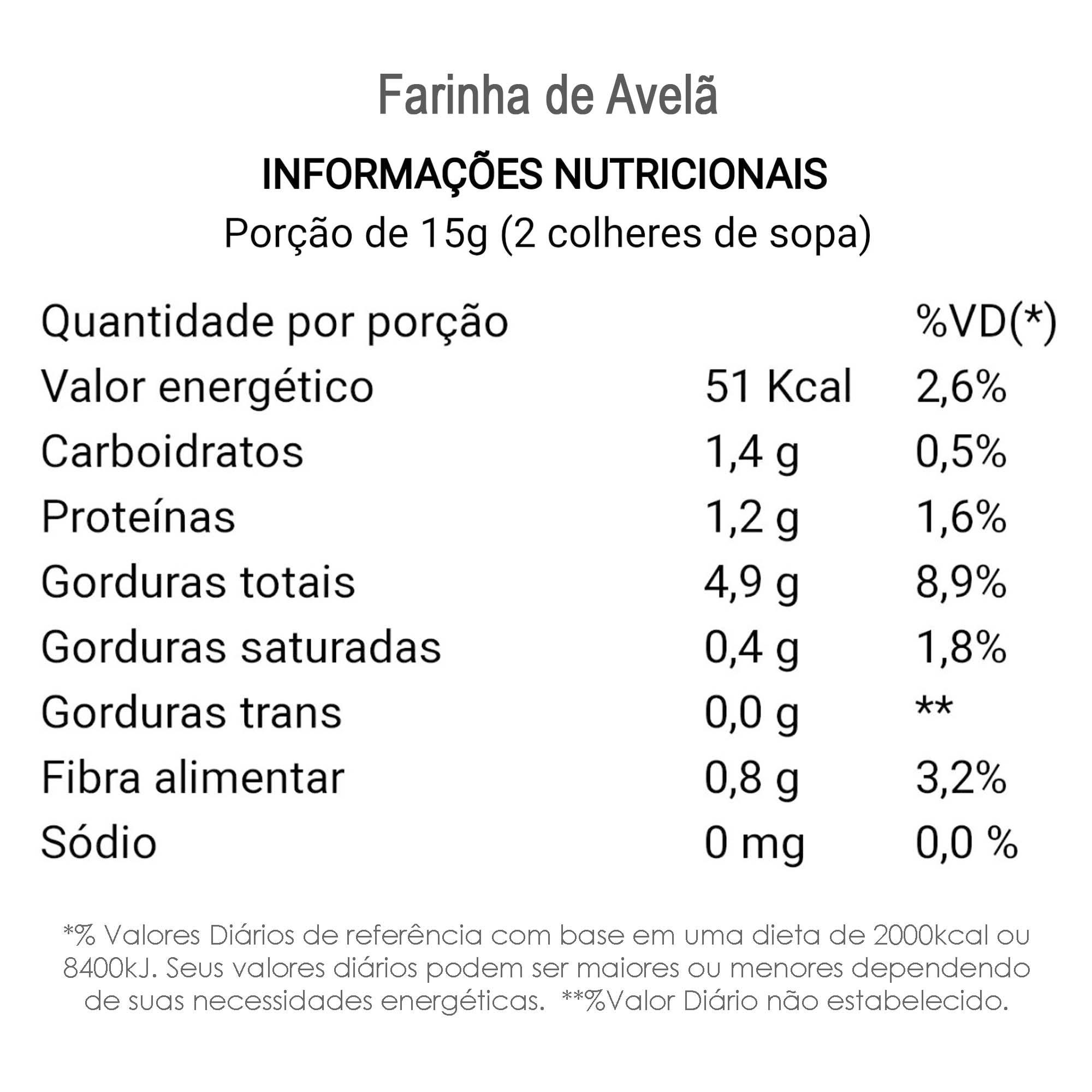 Farinha de Avelã 500g  - TLC Tudo Low Carb
