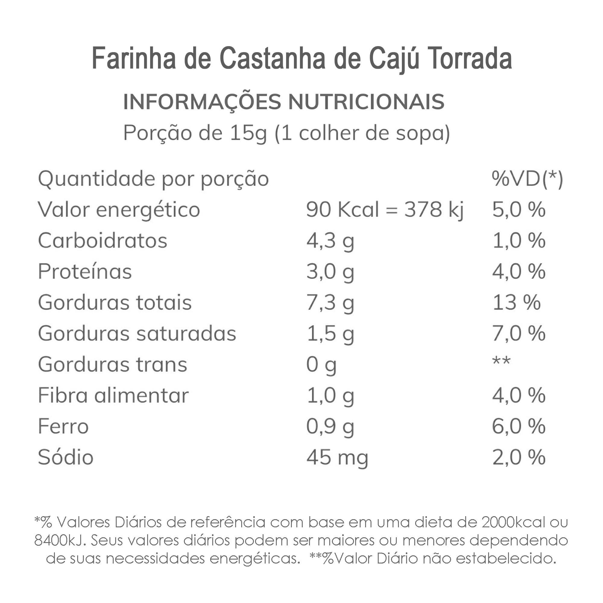 Farinha de Castanha de Cajú (Torrada) 200g  - TLC Tudo Low Carb
