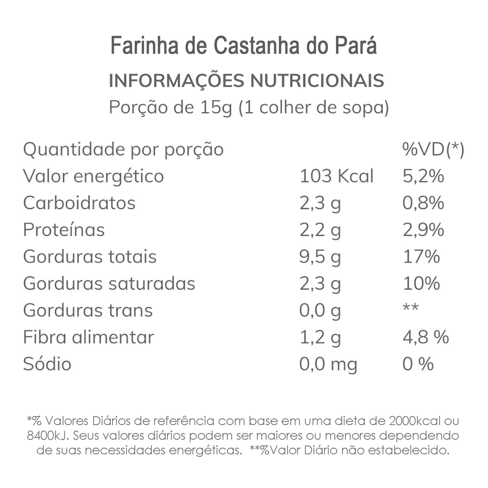 Farinha de Castanha do Pará 500g  - TLC Tudo Low Carb