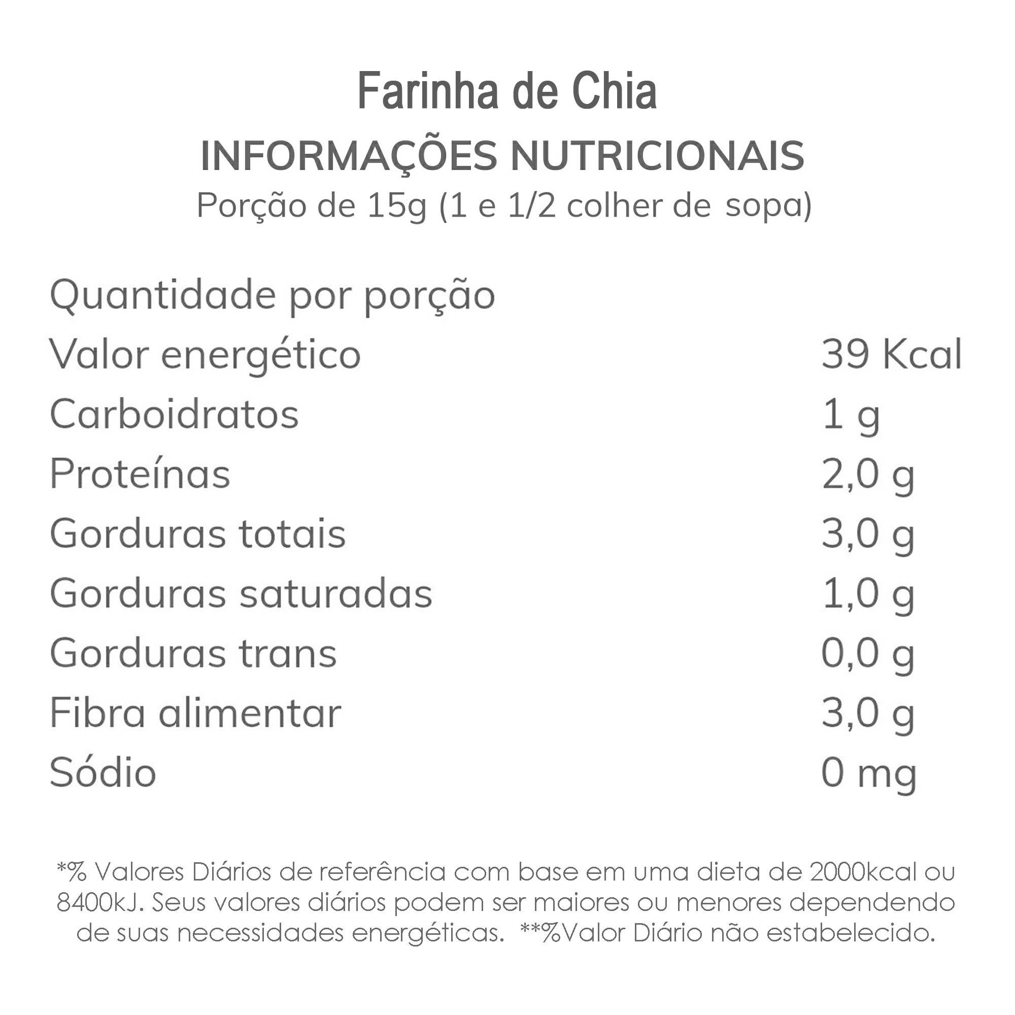 Farinha de Chia 500g  - TLC Tudo Low Carb