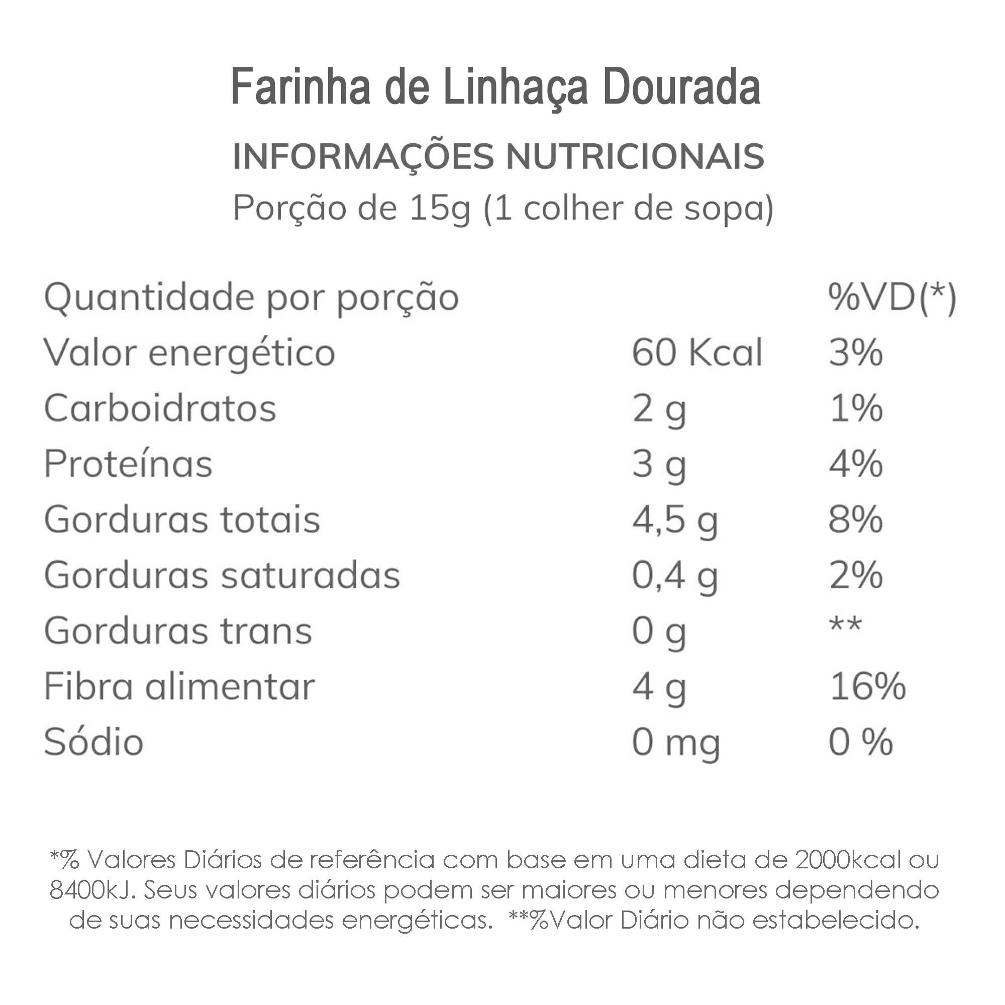 Farinha de Linhaça Dourada 1 kg  - TLC Tudo Low Carb