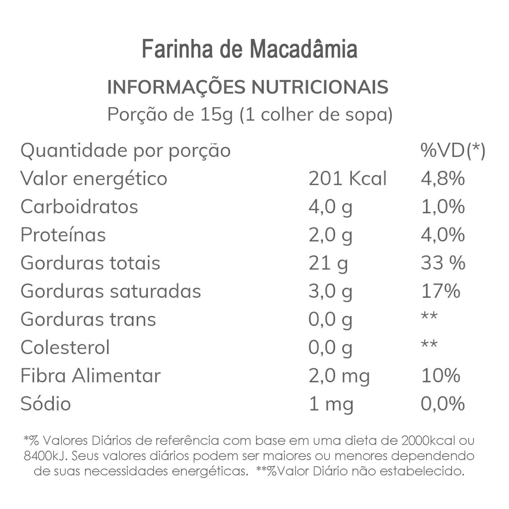 Farinha de Macadâmia 200g  - TLC Tudo Low Carb