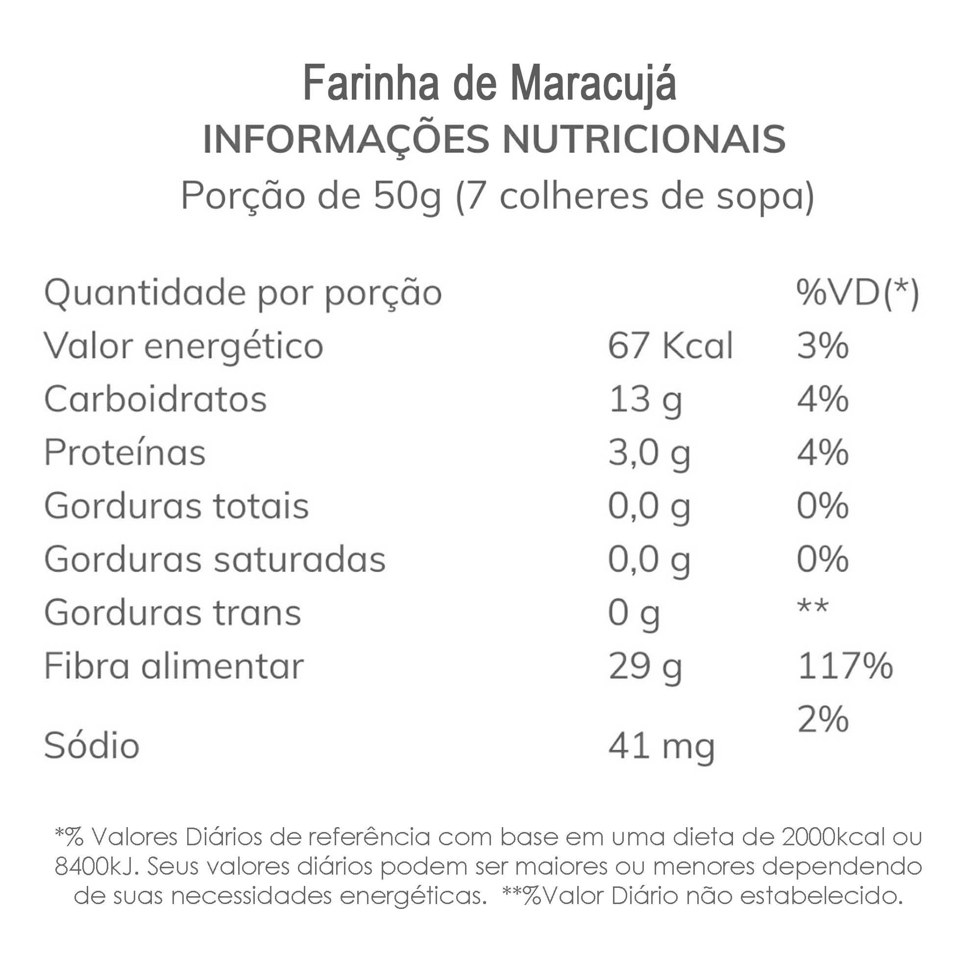 Farinha de Maracujá 250g  - TLC Tudo Low Carb