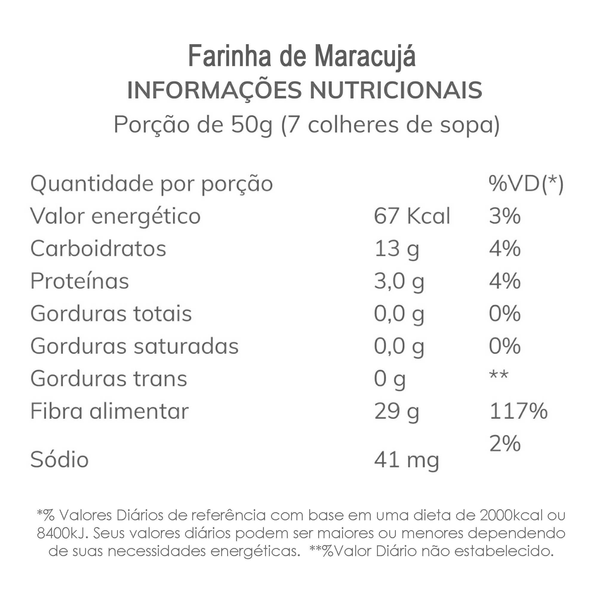 Farinha de Maracujá 500g  - TLC Tudo Low Carb