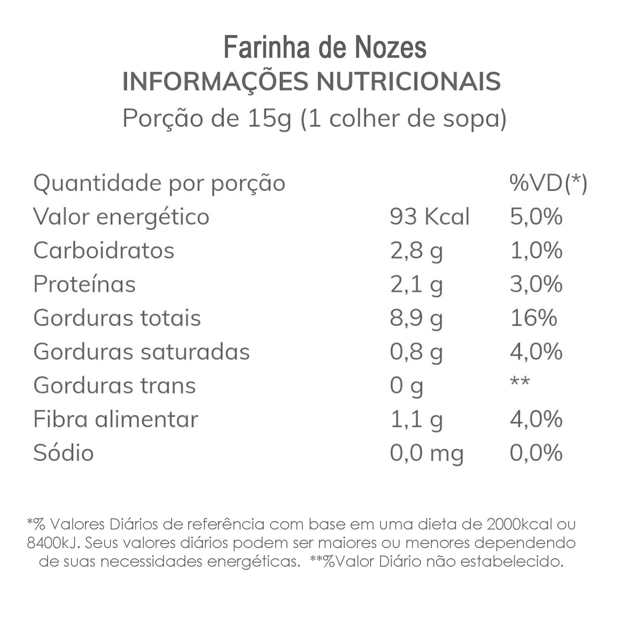 Farinha de Nozes 250g  - TLC Tudo Low Carb