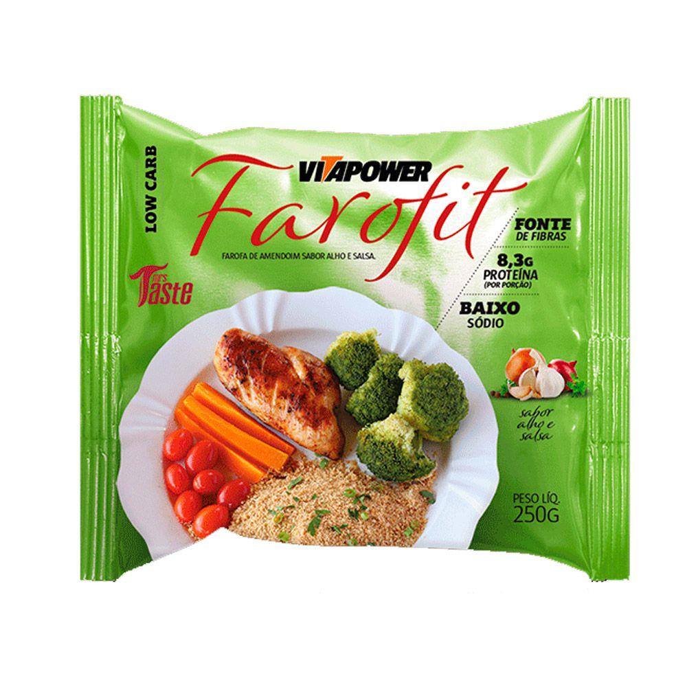 Farofa de Amendoim Sabor Farofit Vitapower Alho e Salsa 250g  - Tudo Low Carb