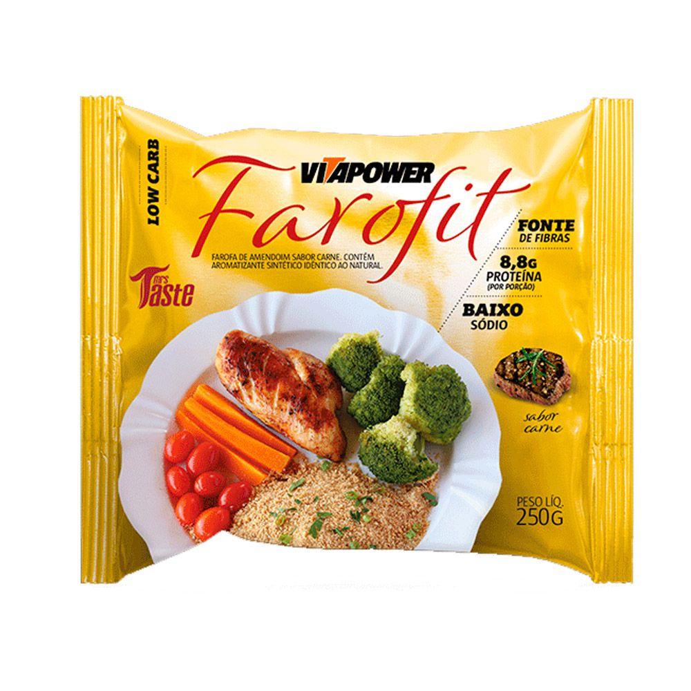 Farofa de Amendoim Sabor Farofit Vitapower Carne 250g  - Tudo Low Carb
