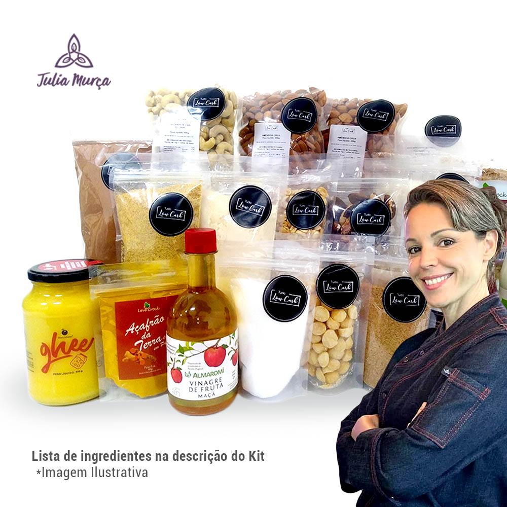 Kit Doces Low Carb - Chef Julia Murça  - TLC Tudo Low Carb