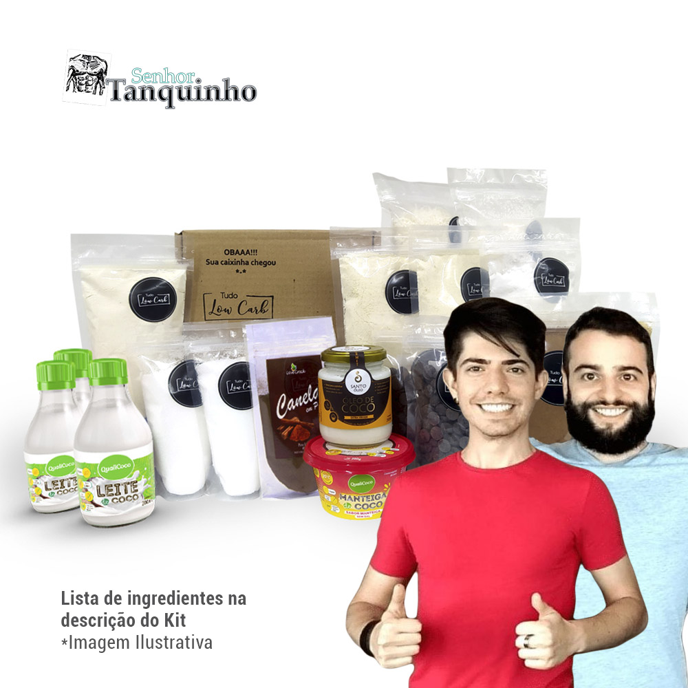 Kit Ingredientes Essenciais - Senhor Tanquinho  - TLC Tudo Low Carb