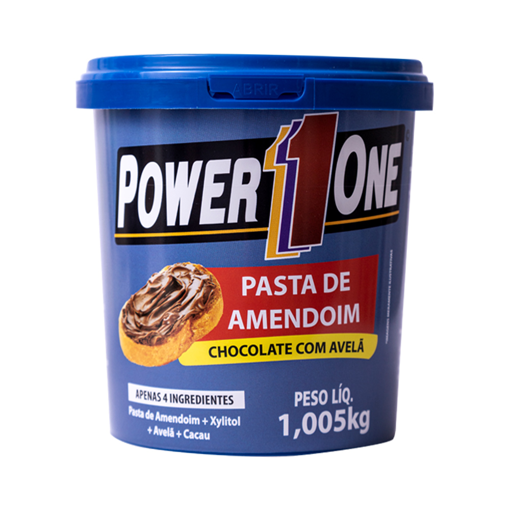 Kit Misto Pasta de Amendoim 1kg Power One   - Tudo Low Carb