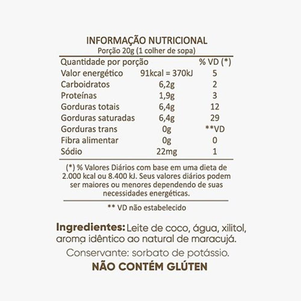 Leite Condensado de Coco Com Maracujá Sem Açúcar Cocodensado 200ml  - Tudo Low Carb