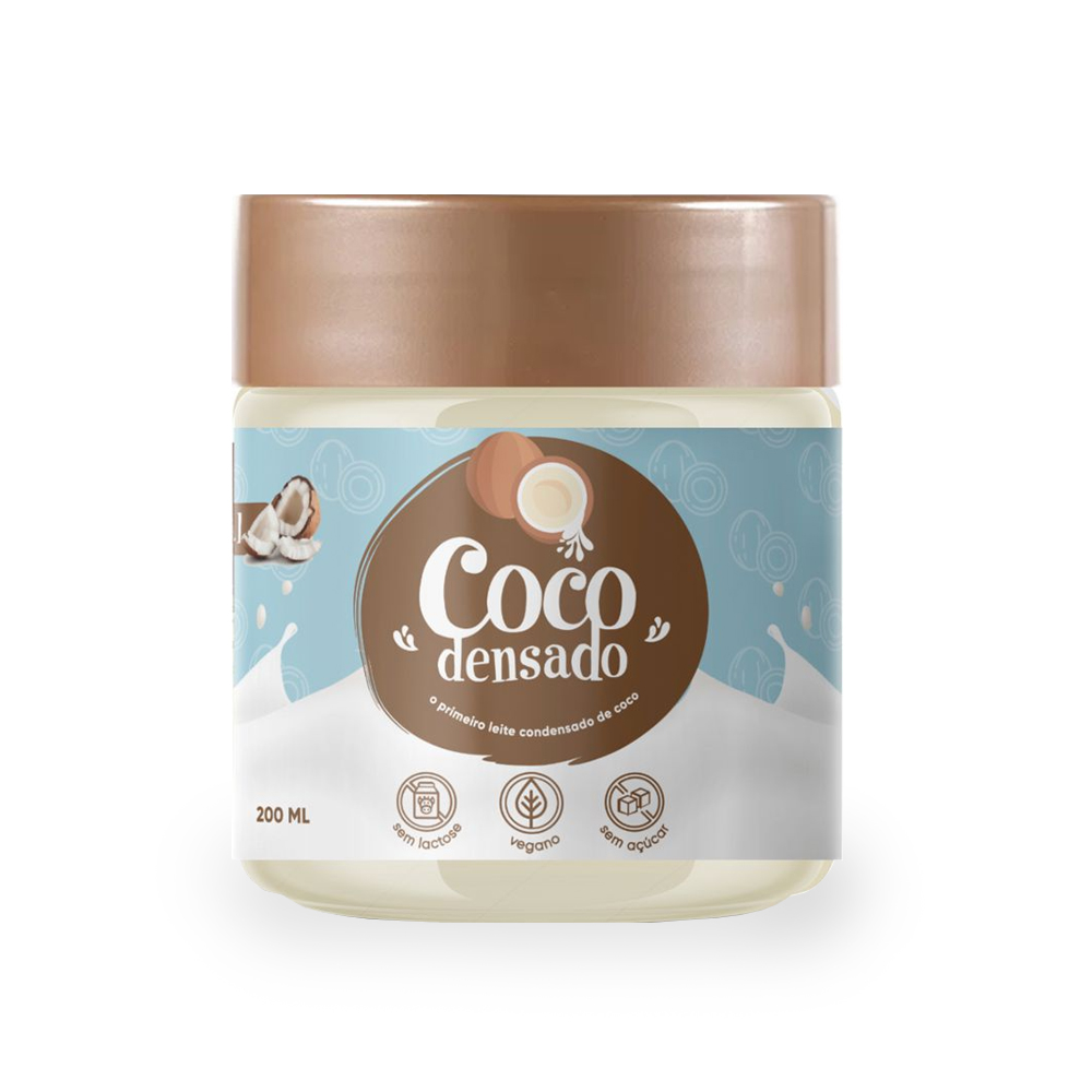 Leite Condensado de Coco Sem Açúcar Cocodensado 200ml  - TLC Tudo Low Carb
