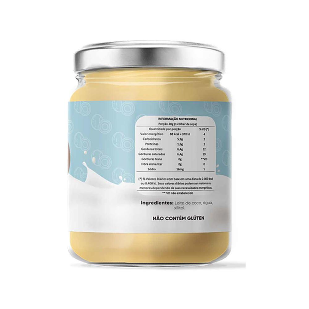 Leite Condensado de Coco Sem Açucar Cocodensado 200ml  - Tudo Low Carb