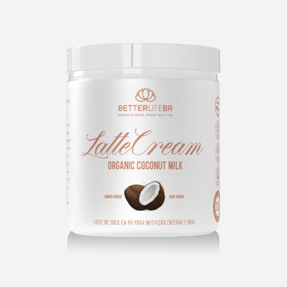 Leite de Coco em Pó Orgânico Latte Cream BetterLife 200g  - Tudo Low Carb