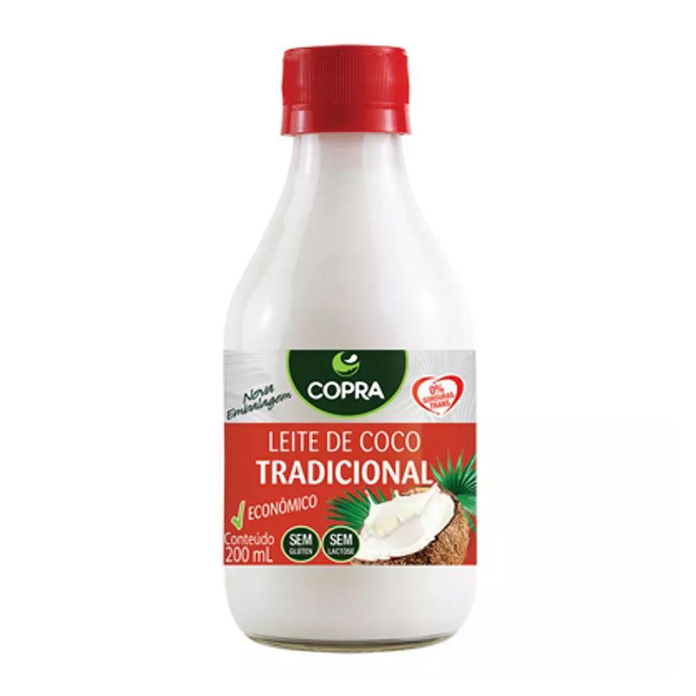 Leite de Coco Tradicional Copra 200ml  - Tudo Low Carb