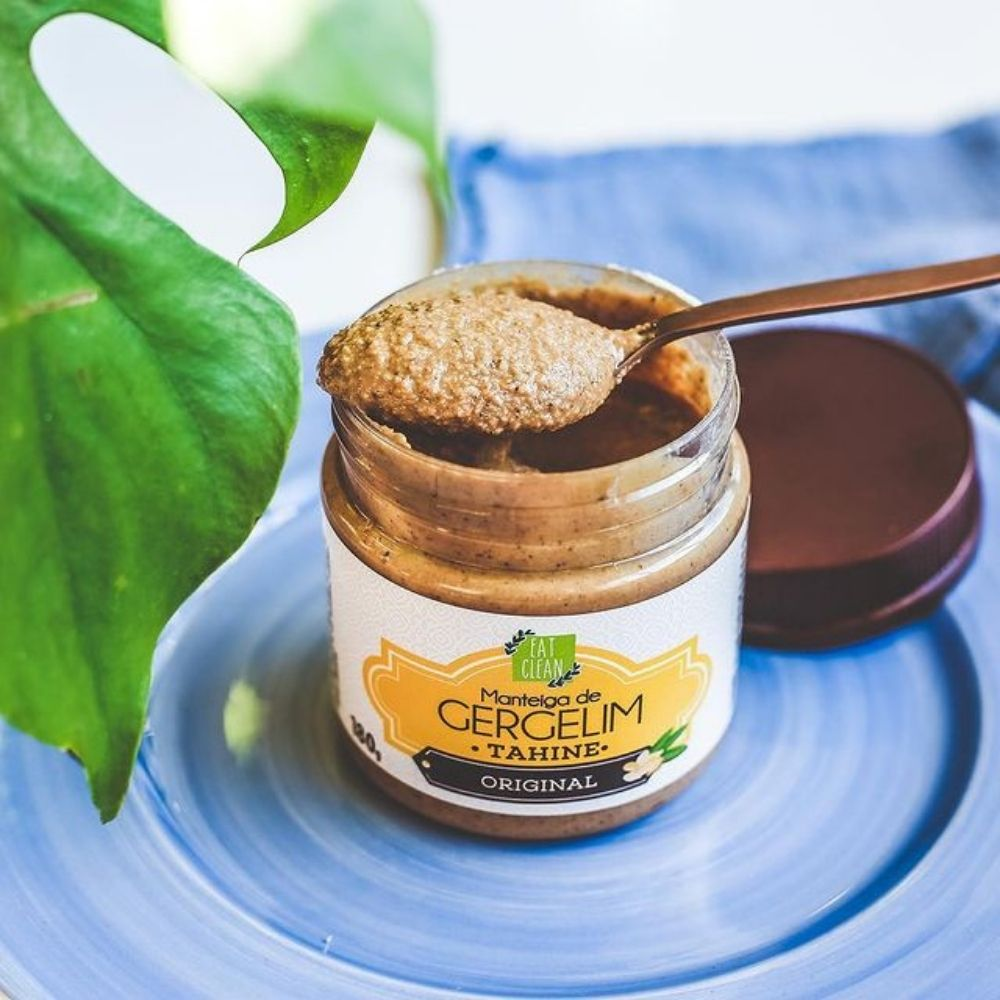 Manteiga de Gergelim (Tahine) Original Eat Clean 180g  - Tudo Low Carb