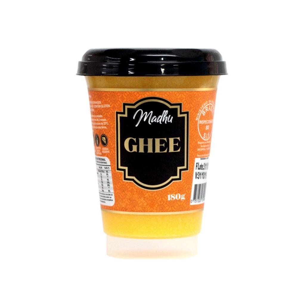 Manteiga Ghee sem Sal Madhu Bakery 180g  - Tudo Low Carb