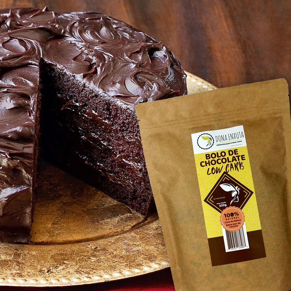 Mistura para Bolo de Chocolate Dona Enxuta 320g  - Tudo Low Carb