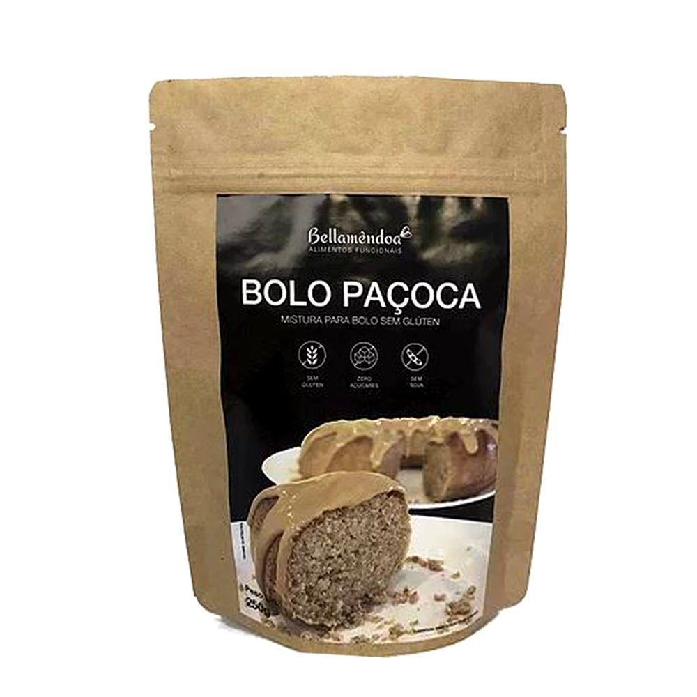 Mistura para Bolo de Paçoca Bellamêndoa 250g  - Tudo Low Carb