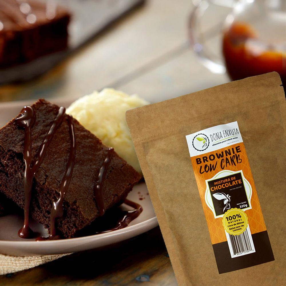 Mistura para Brownie de Chocolate Dona Enxuta 320g  - Tudo Low Carb