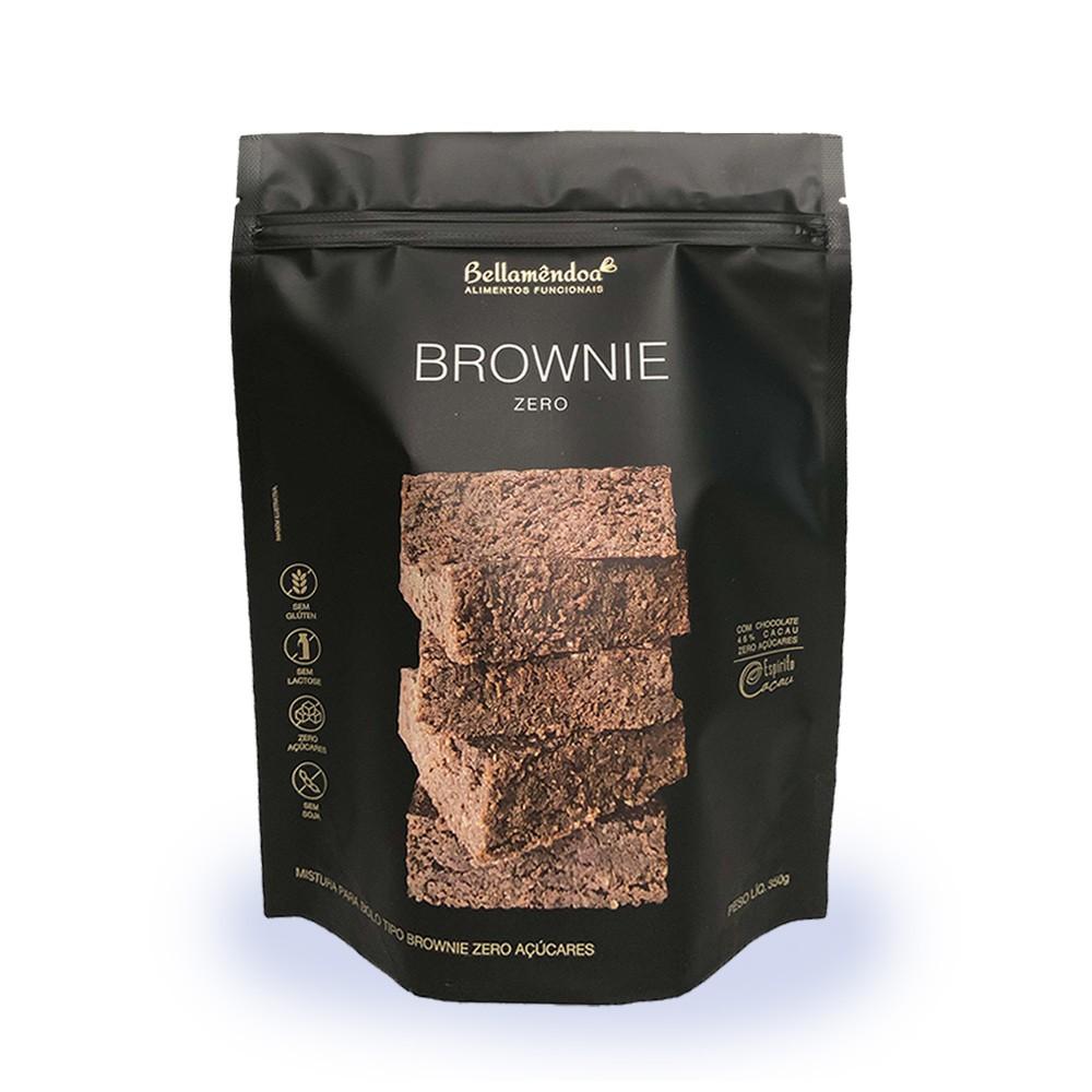 Mistura para Brownie Zero Bellamêndoa 350g  - Tudo Low Carb